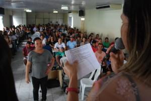 Capacitação lotou o auditório da Secretaria de Educação.