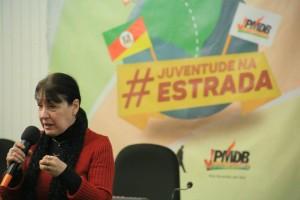 Jussara Prá palestrou sobre as políticas públicas de gênero na juventude.