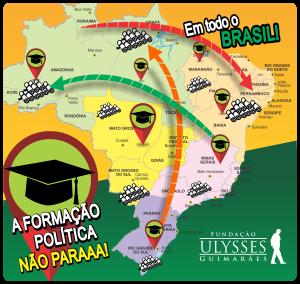 Os cursos da FundUlysses espalham conhecimento por todo o Brasil.