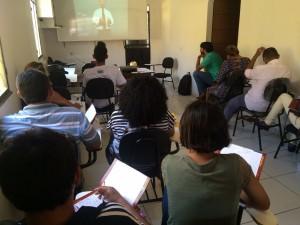 Mais de 20 alunos participaram da formação.