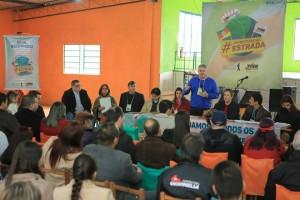 Presidente da FUG/RS, João Alberto, durante o seminário do Juventude na Estrada realizado em São Pedro do Sul/RS.  Foto:  Galileu Oldenburg