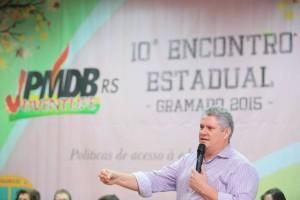 Presidente da FUG/RS durante o lançamento nacional do Juventude na Estrada.