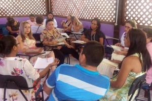 Os debates foram realizados durante os momentos pedagógicos da formação.