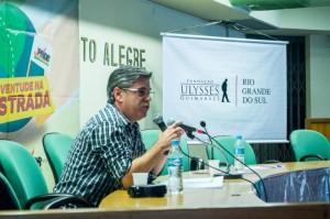Um dos painelistas do dia foi o secretário estadual da Justiça e Direitos Humanos, César Faccioli.